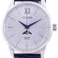 Citizen Moonphase Silver Dial Quartz AK5000-03A Men's Watch