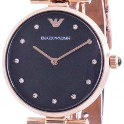 Emporio Armani Gianni T-Bar Black Dial Quartz AR11296 Womens Watch