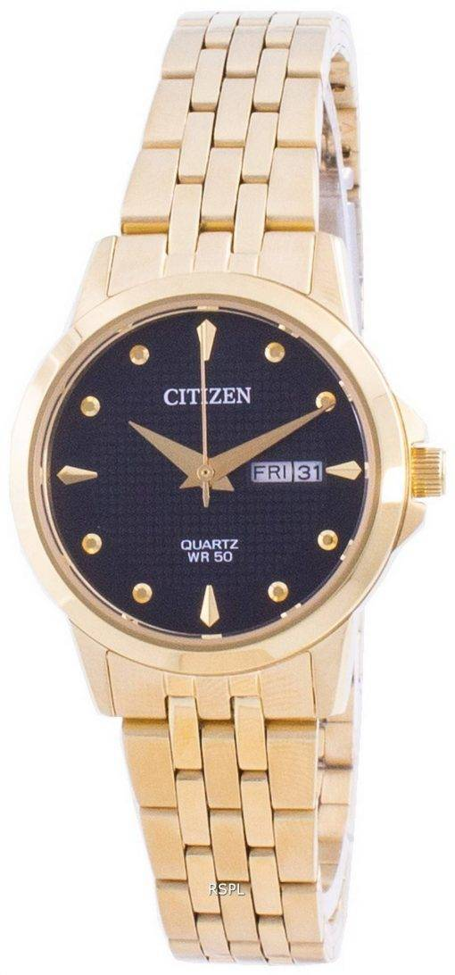 Citizen Black Dial Stainless Steel Quartz EQ0603-59F Women's Watch