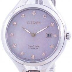 Citizen Super Titanium Diamond Accents Eco-Drive EW2560-86Y Women's Watch