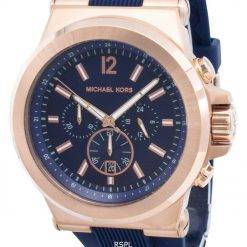 Michael Kors Chronograph Dylan Navy Silicone Strap MK8295 Mens Watch