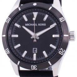Michael Kors Layton Black Dial Silicone Strap Quartz MK8819 Men's Watch