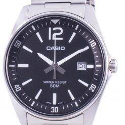 Casio Black Dial Stainless Steel Quartz MTP-E170D-1BV MTPE170D-1BV Men's Watch