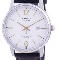 Casio White Dial Leather Strap Quartz MTS-110L-7AV MTS110L-7AV Men's Watch