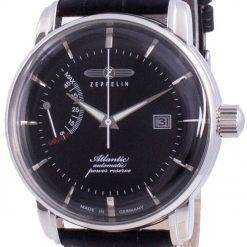 Zeppelin Atlantik Black Dial Leather Strap Automatic 8462-2 84622 Men's Watch