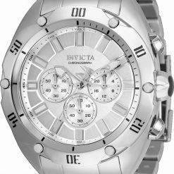 Invicta Venom Chronograph Silver Dial Quartz 33749 100M Men's Watch