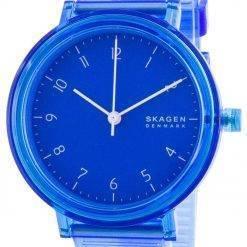 Skagen Aaren Blue Dial Polyurethane Strap Quartz SKW2855 Women's Watch