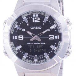 Casio Analog Digital World Time Stainless Steel AMW-870D-1A AMW870D-1 Mens Watch