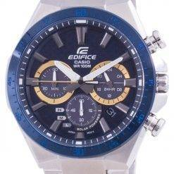 Casio Edifice Solar Powered Chronograph EQS-800BCD-2A EQS800BCD-2 100M Mens Watch