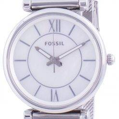 Fossil Carlie Mother Of Pearl Dial Stainless Steel Quartz ES4919 Womens Watch