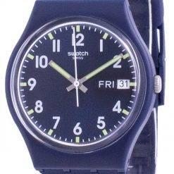 Swatch Ultralavande Purple Dial Silicone Strap Quartz GE718 Womens Watch