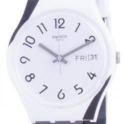 Swatch Greytwist White Dial Silicone Strap Quartz GW711 Mens Watch