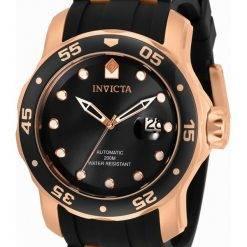 Invicta Pro Diver Black Dial Automatic 33340 200M Mens Watch
