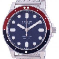 Skagen Fisk Blue Dial Stainless Steel Quartz SKW6668 100M Mens Watch