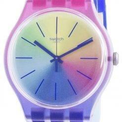 Swatch Multiboost Multicolor Dial Silicone Strap Quartz SUOK143 Mens Watch