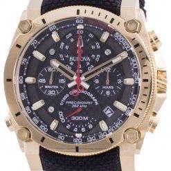 Bulova Precisionist Chronograph Quartz Divers 97B178 300M Mens Watch
