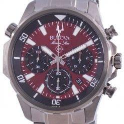 Bulova Marine Star Chronograph Quartz 98B350 100M Mens Watch