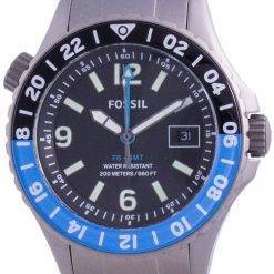 Fossil FB-GMT Curator Titanium Limited Edition Quartz LE1100 200M Mens Watch